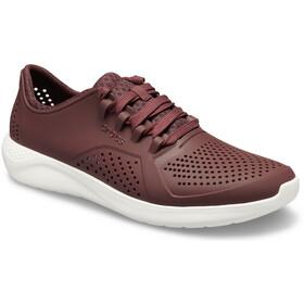 Crocs LiteRide Pacer Schoenen Heren, burgundy/white